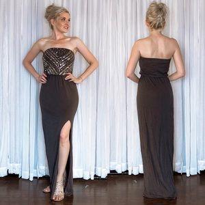 Express Charcoal Grey Boho Maxi Dress